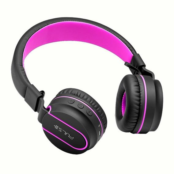 Headphone On-ear Bluetooth Pulse Ph2016 - Preto E Rosa