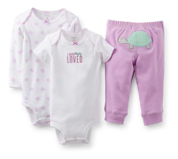 Conjunto 3 Peças Carters Menina Calça Body Diversos Modelos