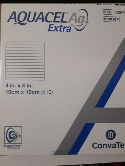 Curativo Aquacel Ag Extra 10cm X 10cm Caixa Com 10 Unidades