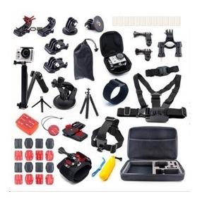 Kit Acessorios P Go Pro Maleta Case Hero 5/4/3 Black Silver