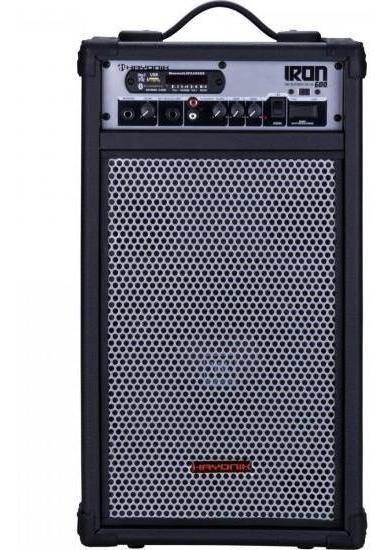 Caixa Multiuso 100w Bluetooth/usb/sd/fm Iron 600 Preta