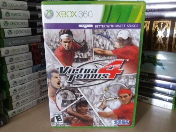 Jogo Virtua Tennis 4 Xbox 360 Original Mídia Física