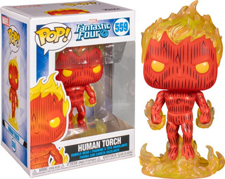 Antorcha Humana Funko Pop Cuatro Fantasticos Marvel Original