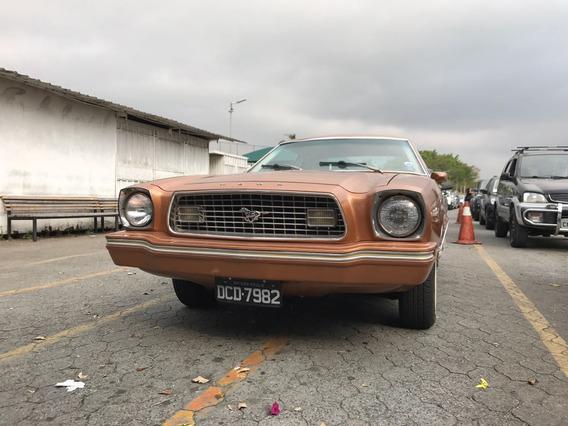 Ford Mustang Ii 1974 Placa Preta