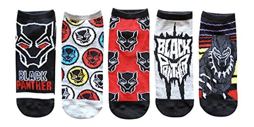 Hip Marvel Black Panther Juniors / Womens 5 Pack Calcetines