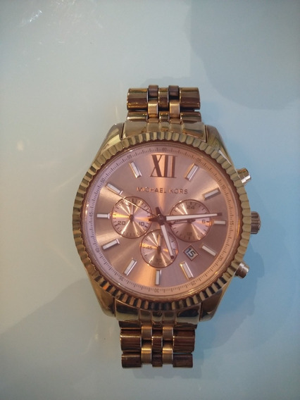 Relógio Luxo Michael Kors Mk8319 Ouro Rose
