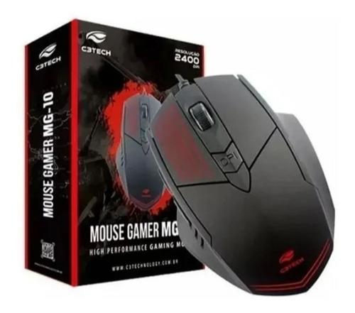 Kit 2 Mouse Óptico Gamer C3tech  2400 Dpi Mg-10 + Nfe
