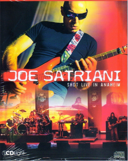 Joe Satriani Live In Anaheim Cd Light Orig Novo Lacrado