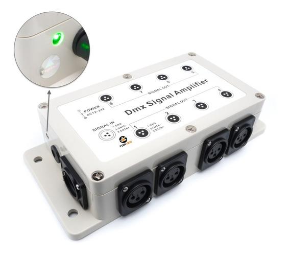 Splitter Amplificador Dmx 8 Salidas Aisladas @tl