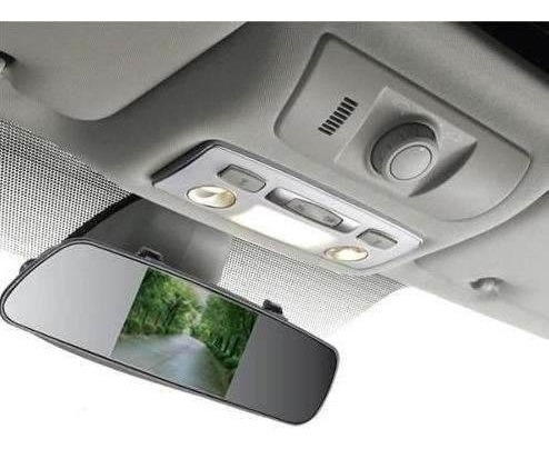 Espelho Retrovisor Veicular Tela Lcd 4,3 Para Camera De Ré