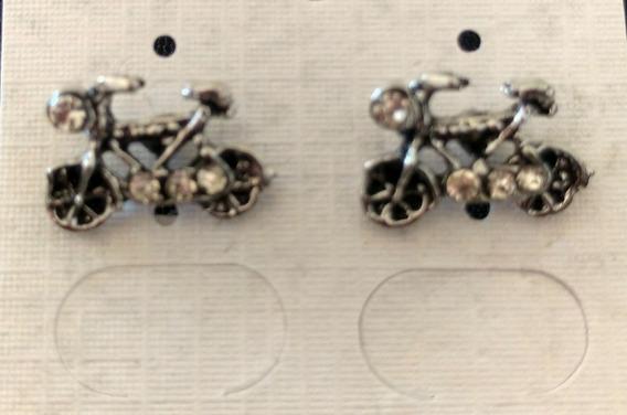 Brinco De Bicicleta Bijuteria Prateado