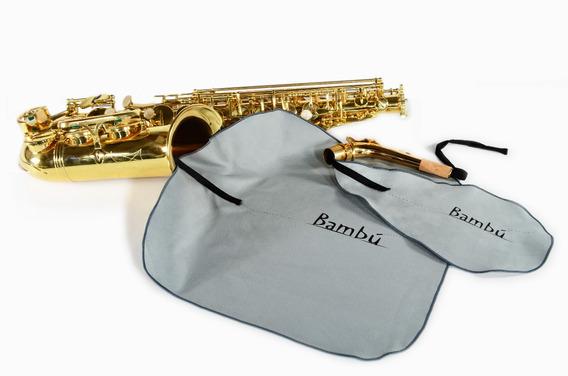 Swab / Kit De Limpieza Bambu Para Saxo Alto / Clarinete Bajo
