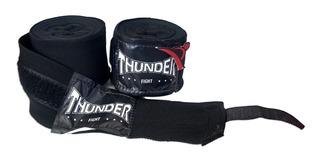 Par Bandagem Atadura Elástica 4mt Muay Thai Thunder Pulser