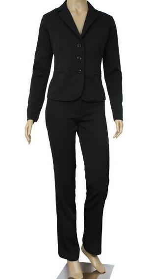 Conjunto (blazer + Calça) + 2 Camisetes Manga Longa