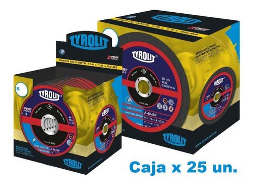 Imagen 1 de 7 de Disco Corte De Tyrolit  Xpert 114 X 1,6 Mm Caja X 25 Un Gramabi Amoladora 4 1/2 Plano 115x1,6 Hierro 114x1,6 Inoxidable