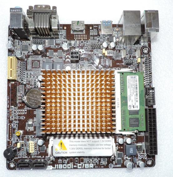 Placa Mãe Asus J1800i-c/br Celeron J1800 E 4gb De Memória