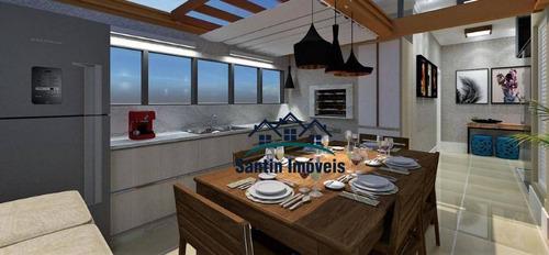 Cobertura Sem Condomínio Com 2 Dormitórios, 50% Coberta, Vaga De Garagem  À Venda, 83 M²  - Campestre - Santo André/sp - Co0556