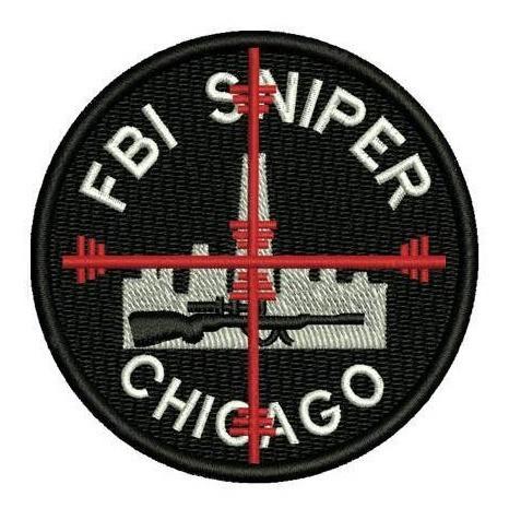Bordado Termocolante Fbi Sniper Chicago