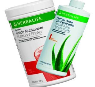 Herbal Aloe Concentrado 473ml + Batido 550gr