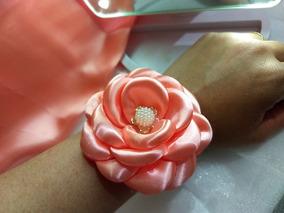 8 Corsages Coral Para Madrinhas, Debutantes, 15 Anos