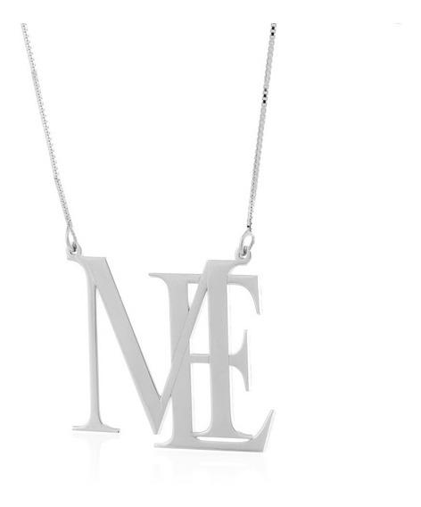 Colar Pingente Letras Monograma Em Prata 925 La Madame Co