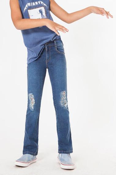 Calça Jeans Rasgos Reserva Mini