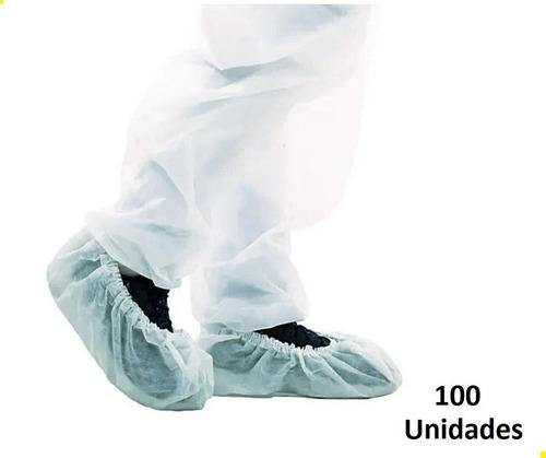 Sapatilha Propé Descartável Tnt Branca C/ 100 Unidades