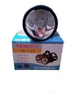 Linterna, Lampara Led Recargable Yani 7122 Casco Oferta 20$