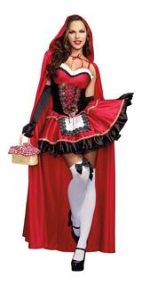Fantasia Chapeuzinho Vermelho Adulto Carnaval Festa M/xg