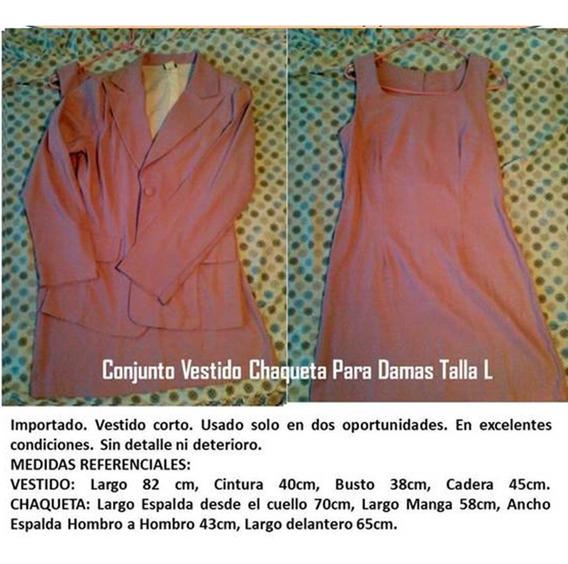 Conjunto De Vestir Para Damas Chaqueta Y Vestido Talla L