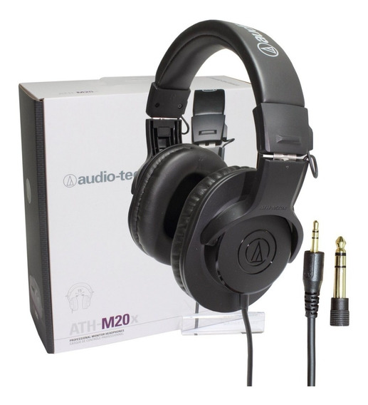 Fone Profissional Audio Technica Ath-m20x Envio Rápido