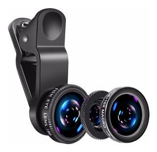 Kit X 3 Lentes Ojos De Pez Huawei Blu Tcl Hyundai Bgh Noblex