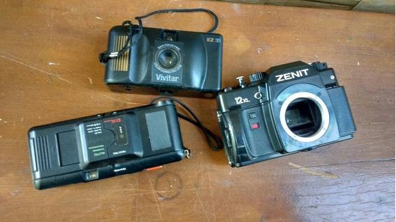 Lote Com 3 Maquinas Fotográficas