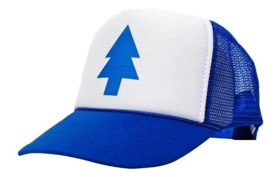 Bone Gravity Falls Dipper Pines Trucker Azul Pinheiro
