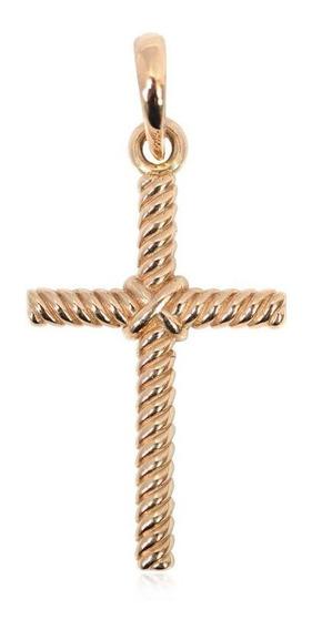 Cruz Rope En Oro De 14k (29696)