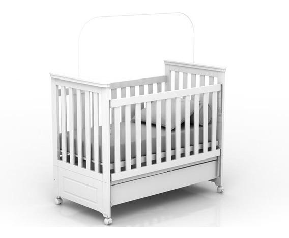 Berço Mini Cama Infantil Tata Branco Fosco - Quater Móveis.