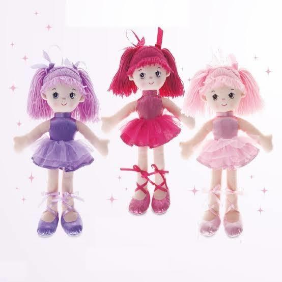 Boneca Bailarina Glitter P 4724 Buba