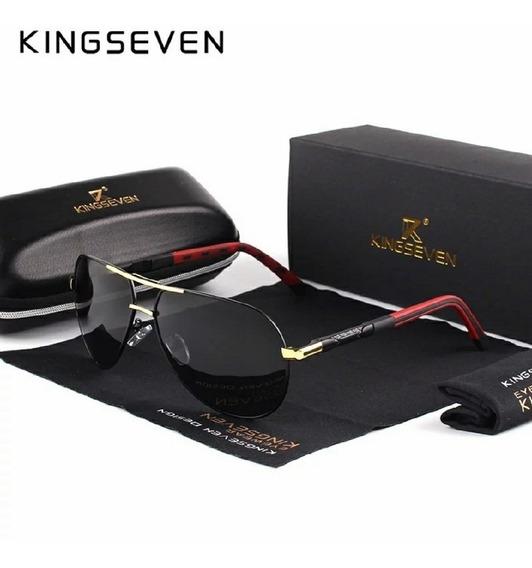 Óculos Masculino Kingseven Estilo Aviador Original K725