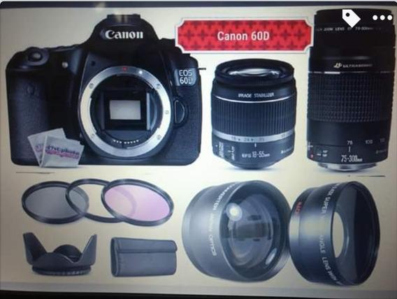 Câmera Canon 60d/lentes E Acessórios