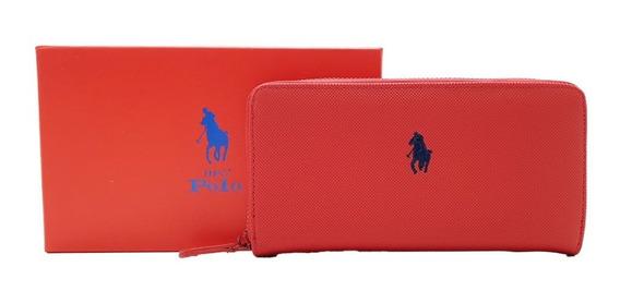 Cartera Hpc Polo Logo Bordado Rojo