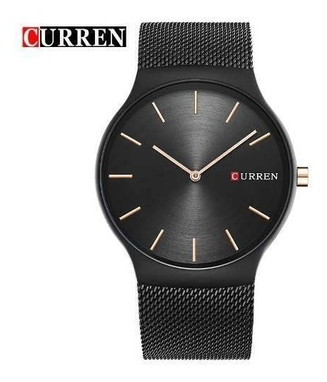 Relógio Masculino Curren 8256 De Luxo Analógico Black Rose