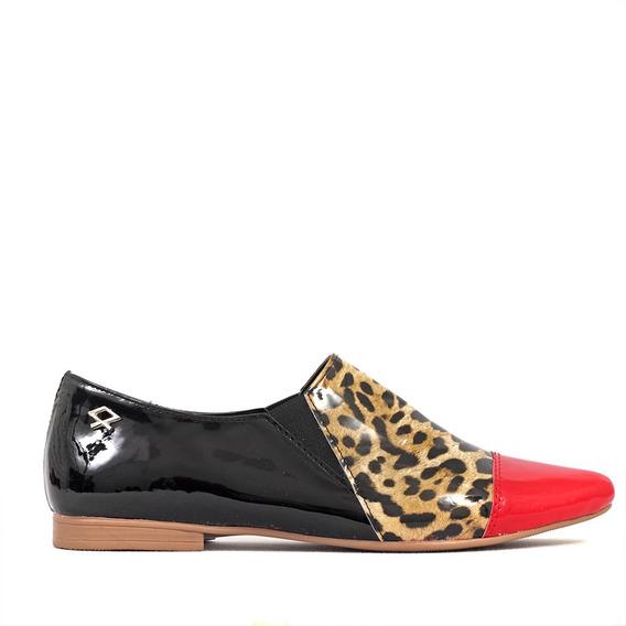 Zapatos Mujer Nelida Cuero Ecologico Charol Nazaria