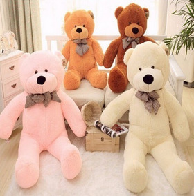 Urso Gigante De Pelucia Teddy Bear 1,1metros 110cm Cheio