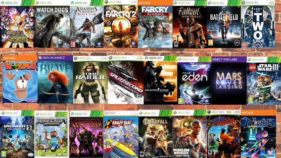 Combo 24 Jogos Midia Digita Xbox 360 Mg Games