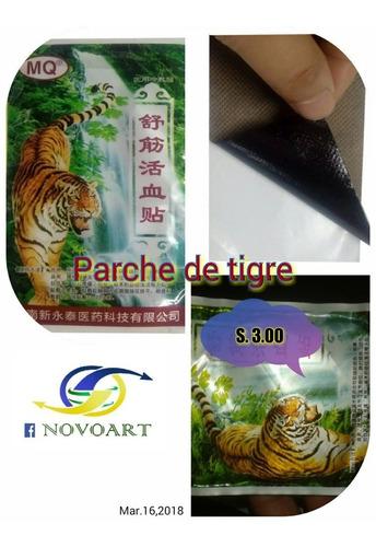Imagen 1 de 2 de Parche De Tigre Para Dolor Muscular Y Otros