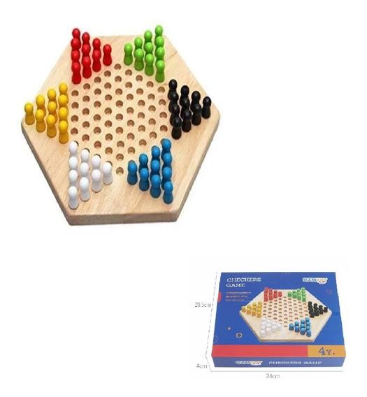 Juego De Damas Chinas Bxt / Juego De Madera Checkers Game