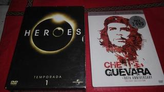Dvds Héroes Temporada 1 6dvds Y 3 Dvds Che Guevara Trilogía