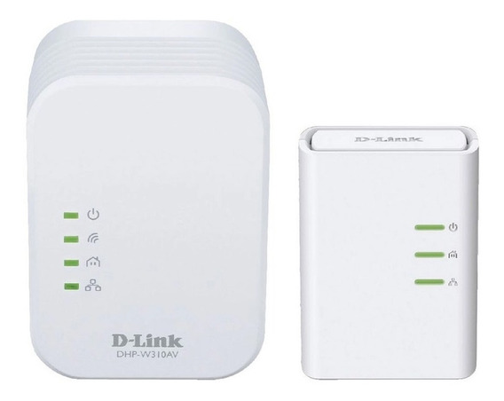 Kit Adaptador Powerline Extensor Wifi Blanco D-link