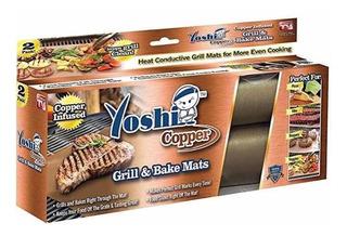 Yoshi Copper Grill And Bake Mats (set Of 2), Para Parrillada