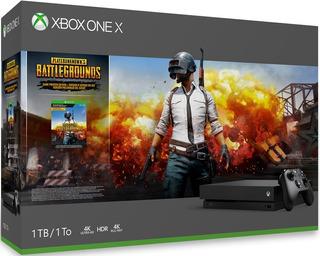 Consola Xbox One X De 1tb +juego Pubg + Control + Halo 5
